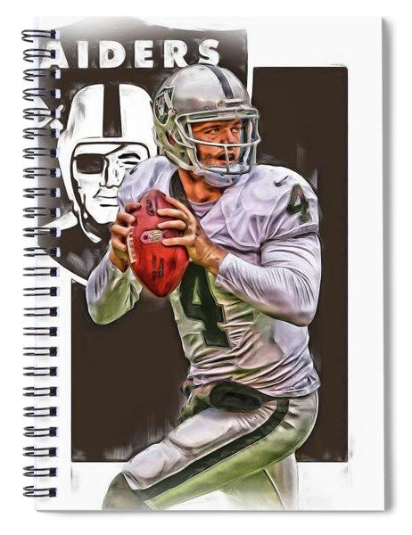Derek Carr Oakland Raiders Oil Art Spiral Notebook