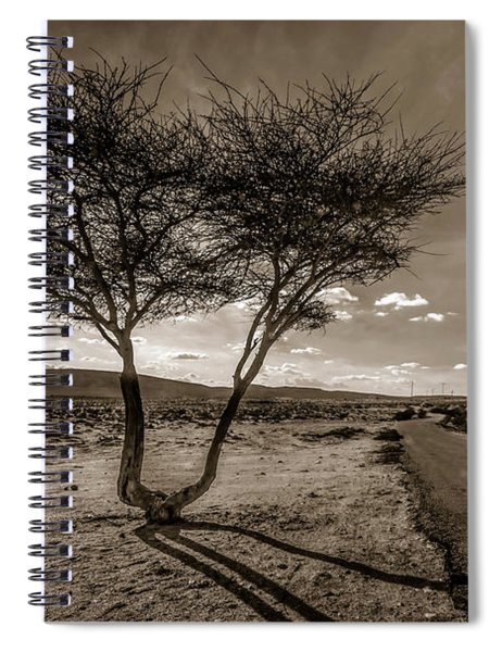 Spiral Notebook featuring the photograph Desert Landmarks  by Arik Baltinester