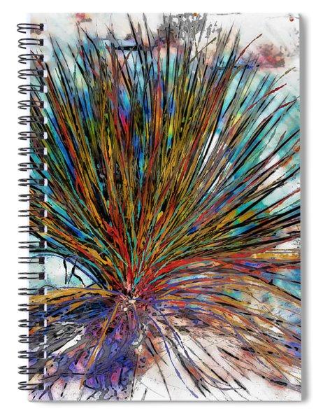 Desert Plant Abstract Spiral Notebook