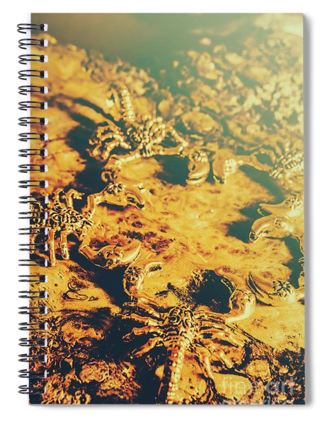 Desert Scorpion Scarabs Spiral Notebook
