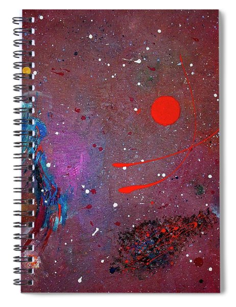 Spiral Notebook featuring the painting Desert Song by Michael Lucarelli