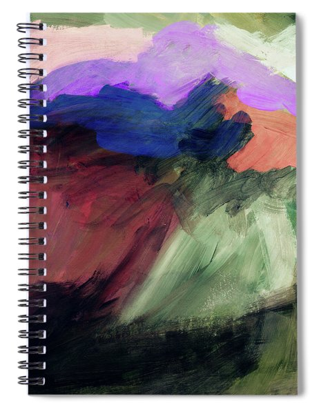 Desert Sunset 1- Art By Linda Woods Spiral Notebook