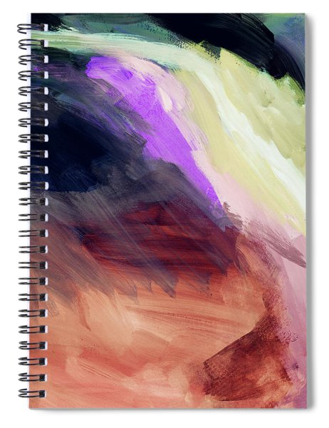 Desert Sunset 2- Abstract Art By Linda Woods Spiral Notebook