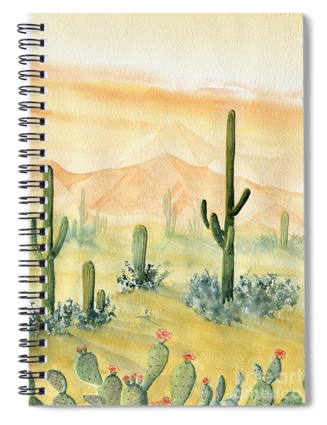 Desert Sunset Landscape Spiral Notebook