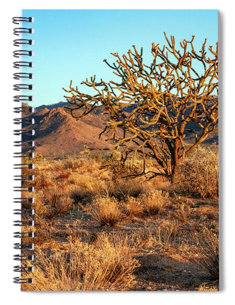 Desert Tree And Hualapai Mountains Spiral Notebook