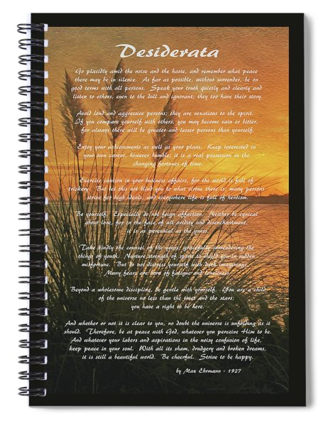 Desiderata - Go Placidly Spiral Notebook
