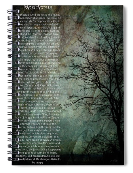 Desiderata Of Happiness - Vintage Art By Jordan Blackstone Spiral Notebook