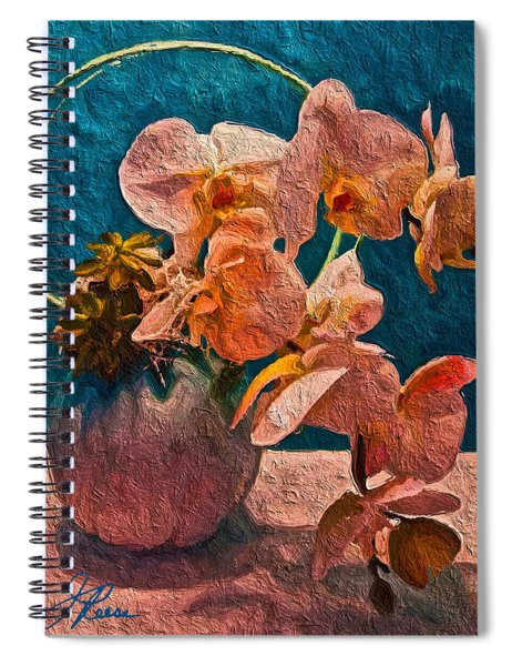 Designer Floral Arrangement Spiral Notebook