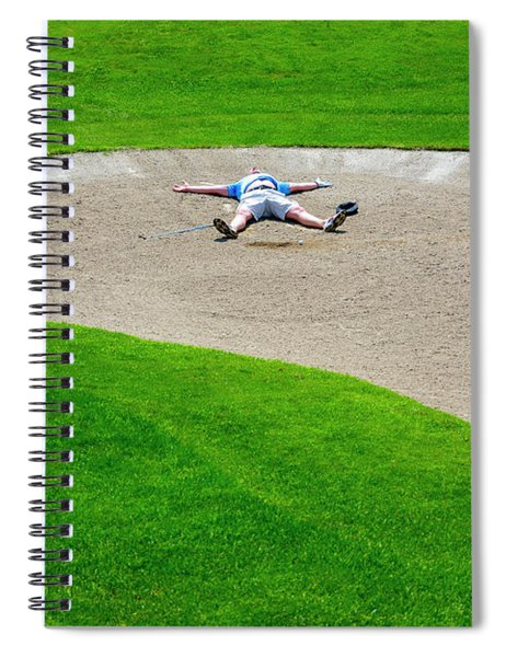 Desperate Golfer Spiral Notebook