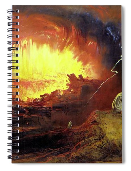 Destruction Of Sodom And Gomorah Spiral Notebook