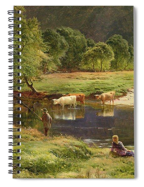 Detail Of A Highland Loch Scene Spiral Notebook