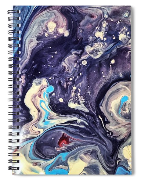 Detail Of Fluid Painting 1 Spiral Notebook