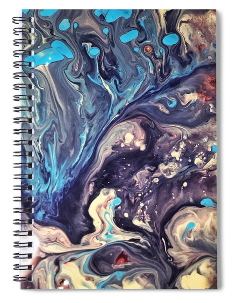 Detail Of Fluid Painting 2 Spiral Notebook