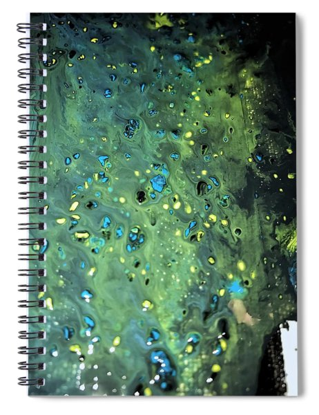 Detail Of Mixed Media Painting Spiral Notebook