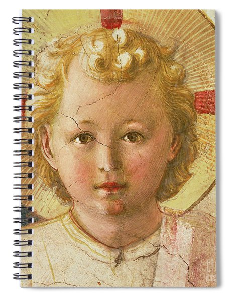 Detail Of The Christ Child From The Madonna Delle Ombre Spiral Notebook