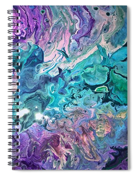 Detail Of Waves 2 Spiral Notebook