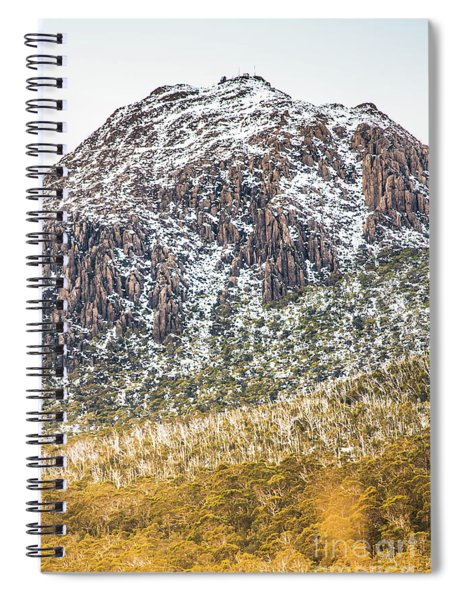 Detail On A Australian Snow Covered Mountain Spiral Notebook