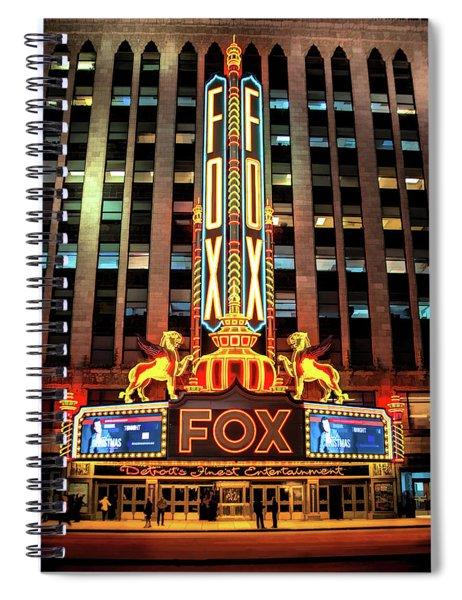 Detroit Fox Theatre Marquee Spiral Notebook