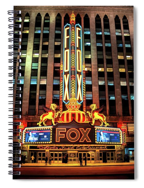 Detroit Fox Theatre Marquee Spiral Notebook