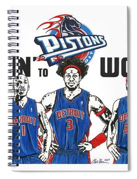 Detroit Goin' To Work Pistons Spiral Notebook