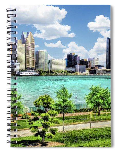 Detroit River Skyline Spiral Notebook