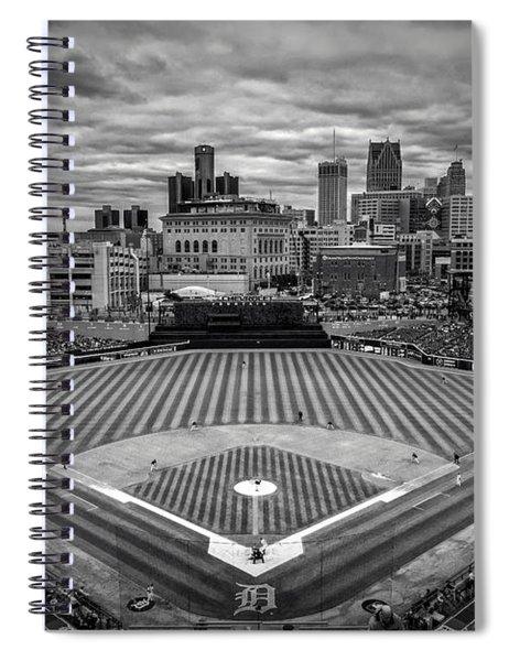 Detroit Tigers Comerica Park Bw 4837 Spiral Notebook