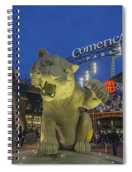 Detroit Tigers Comerica Park Front Gate Tiger Spiral Notebook