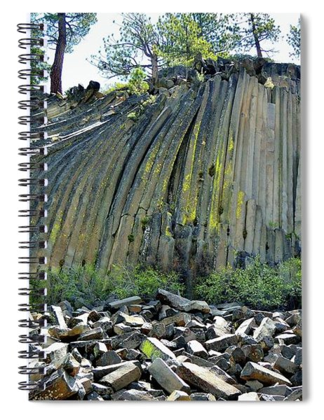 Devils Postpile Spiral Notebook