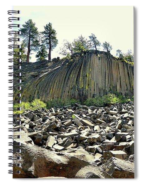 Devils Postpile Wide Spiral Notebook