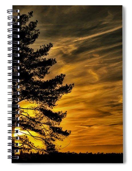 Devils Sunset Spiral Notebook