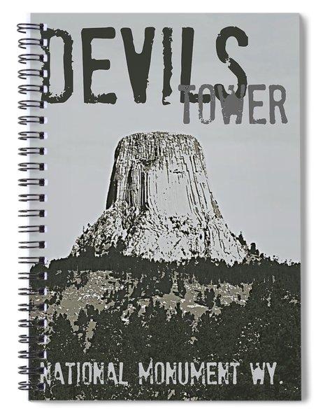 Devils Tower Stamp Spiral Notebook