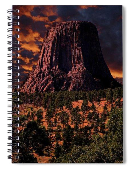 Devils Tower Sunrise Spiral Notebook