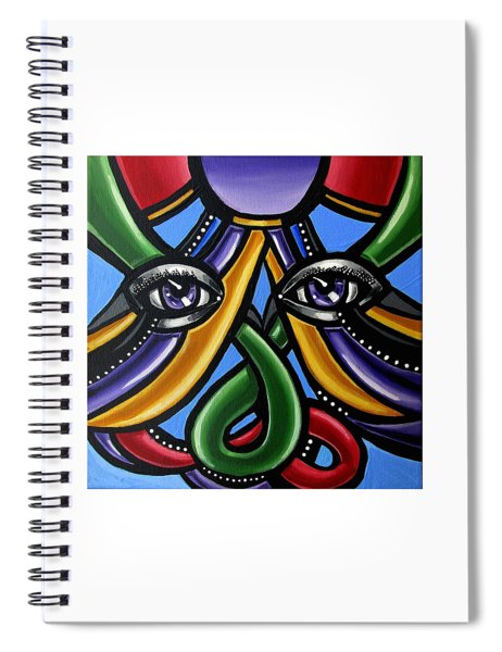 Colorful Eye Art Paintings Abstract Eye Painting Chromatic Artwork Spiral Notebook