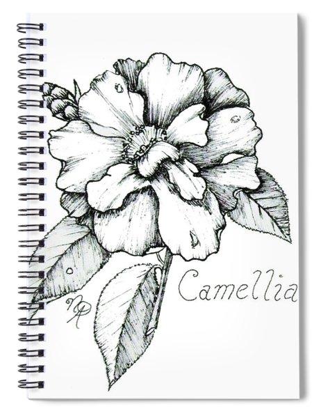 Dew Kissed Camellia Spiral Notebook