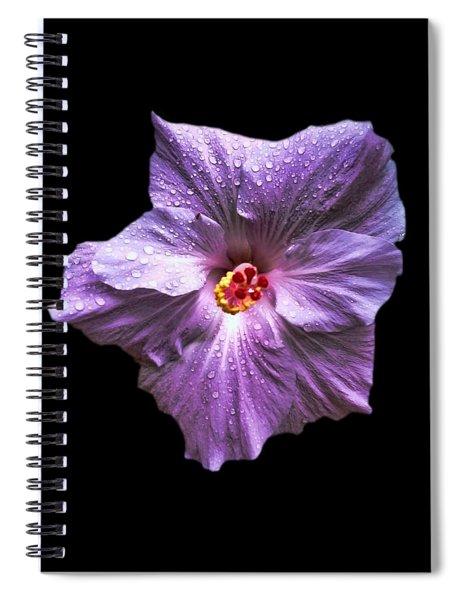 Dew Kissed Hibiscus Spiral Notebook