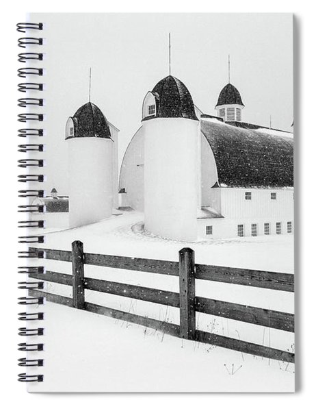 Spiral Notebook featuring the photograph Dh Day Farm 4 by Heather Kenward