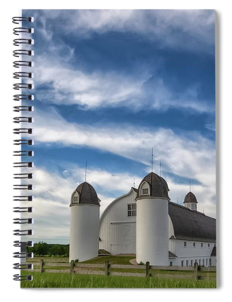 Spiral Notebook featuring the photograph Dh Day Farm 6 by Heather Kenward
