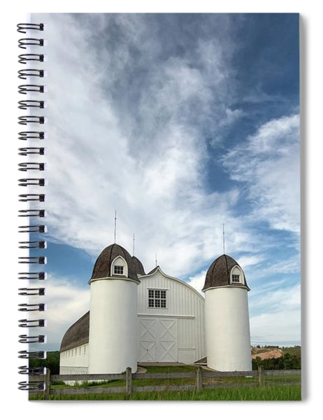 Spiral Notebook featuring the photograph Dh Day Farm 8 by Heather Kenward