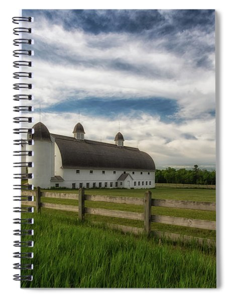 Spiral Notebook featuring the photograph Dh Day Farm 9 by Heather Kenward