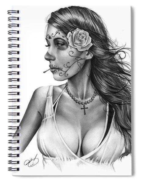 Dia De Los Muertos 1 Spiral Notebook