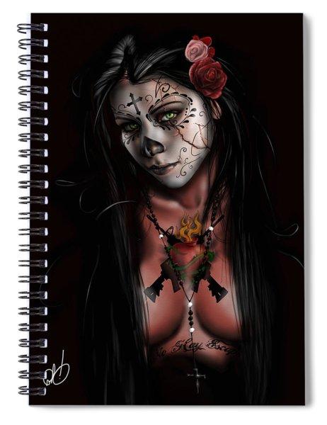 Dia De Los Muertos 3 Spiral Notebook