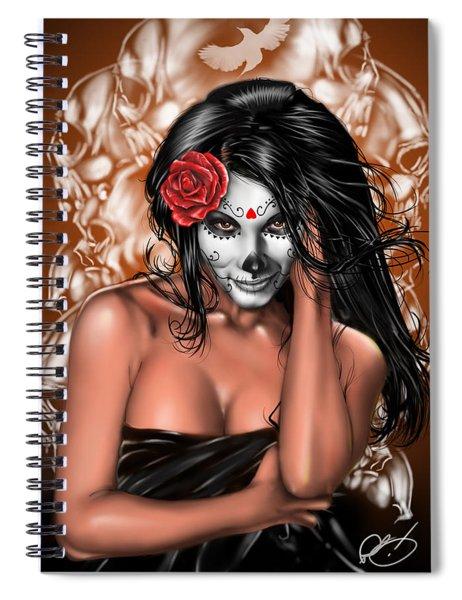Dia De Los Muertos Remix Spiral Notebook