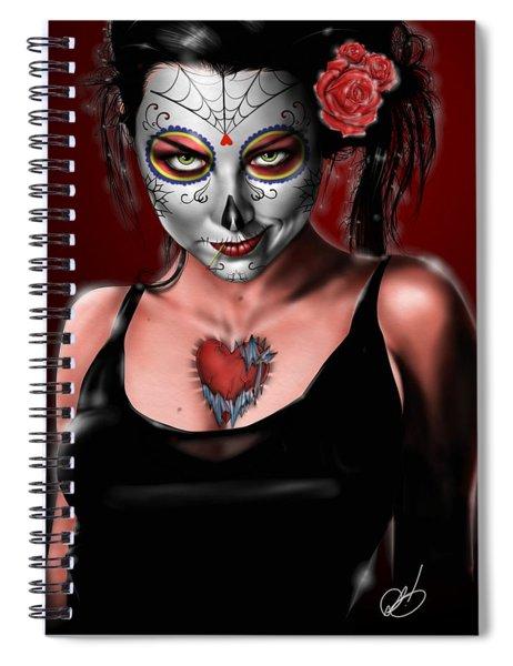 Dia De Los Muertos The Vapors Spiral Notebook