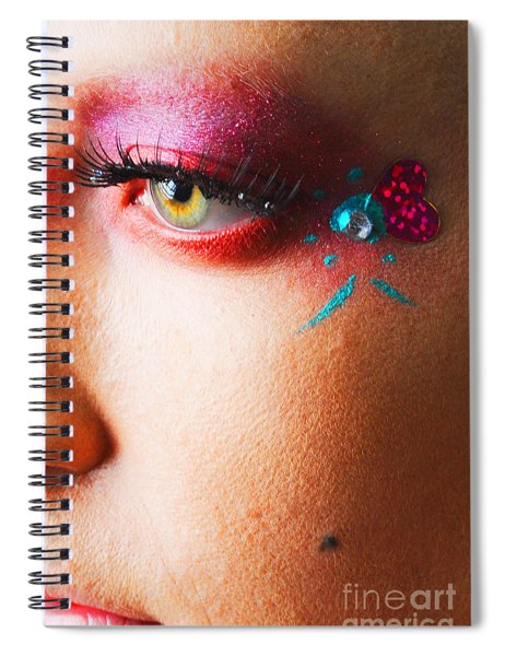 Diamond With Pink Spiral Notebook