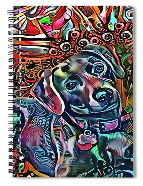 Did Somebody Say Treat? Blue Lacy Dog Spiral Notebook
