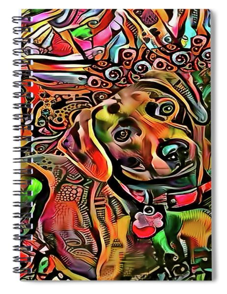 Did Somebody Say Treat? Brown Version Spiral Notebook