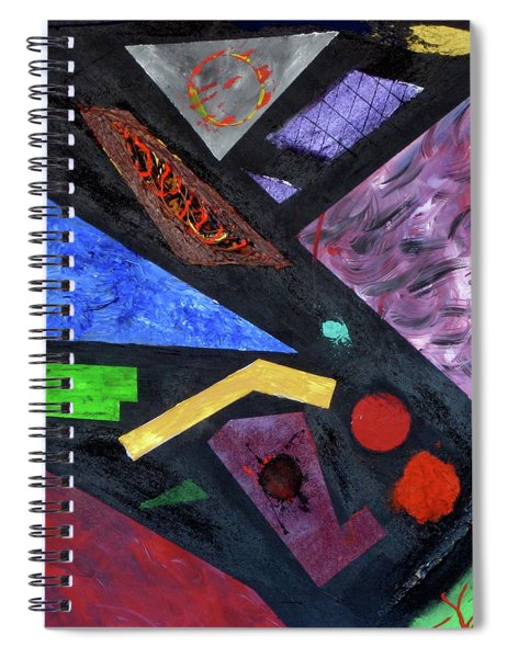 Spiral Notebook featuring the painting Differences by Michael Lucarelli