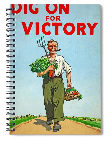 Dig On For Victory Spiral Notebook