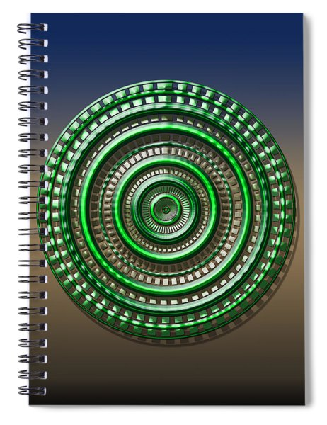 Digital Art Dial 3 Spiral Notebook