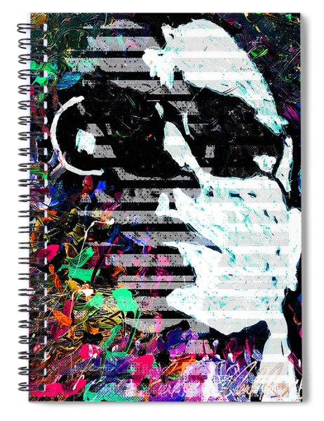 digital Lou Reed Spiral Notebook
